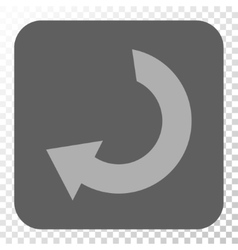 Rotate rounded square button vector