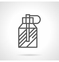 Mens perfume spray simple line icon vector image