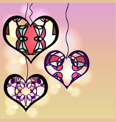 Set of templates for invitationsvalentines day vector