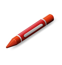 A red crayon vector