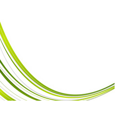 Green and white corporate wavy abstract background vector