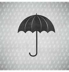 Vintage black umbrella vector