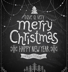 Christmas poster - chalkboard style vector