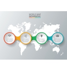 World map with infographic elements vector