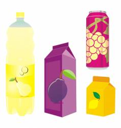 juice containers vector image