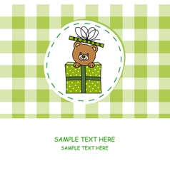 bear out of a gift vector image