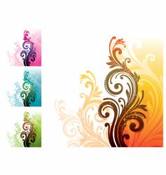 Floral decorative ornament vector