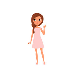 beautiful young girl with brown hair wearing vector image vector image