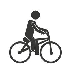 Bicycle man biker icon vector