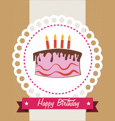 Birthday design over brown background vector