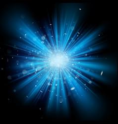 blue light burst effect eps 10 vector image vector image