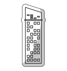 Building architecture modern skyscraper outline vector