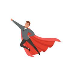 cartoon character of businessman with superhero vector image