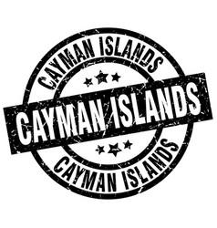 cayman islands black round grunge stamp vector image
