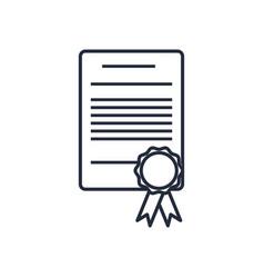 Cetificate diploma stamp certificate rosette vector