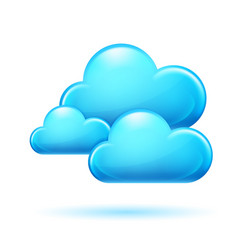 clouds on white background for design vector image