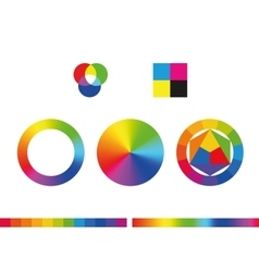 Color wheels and color palette vector image vector image