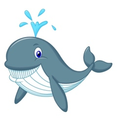 Cute whale cartoon vector
