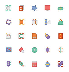 Design and Development Icons 1 vector image