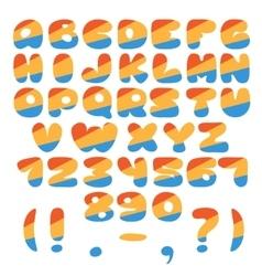 Different colors alphabet vector
