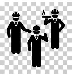 Engineer persons discussion icon vector