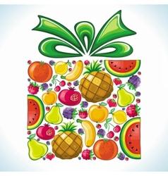 Fruity present vector