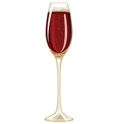 Glass filled up with champagne vector image vector image