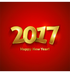 Golden 2017 Happy New Year sweet greeting card vector image vector image