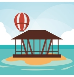 Island summer holiday vacation icon vector