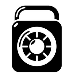 lock element icon simple black style vector image
