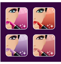 Makeup icons vector image
