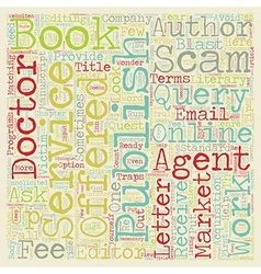 Scams schemes and shams who can an author trust vector