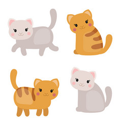 Set of cute cats set of cute cats vector