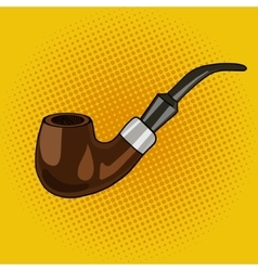 Smoking pipe pop art style vector