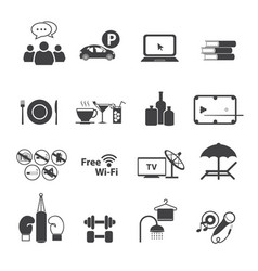 Sport club icons set vector