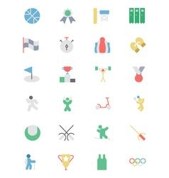 Sports colored icon 3 vector