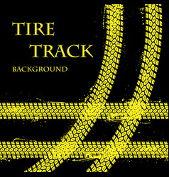 Tire tracks with text vector