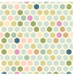 vintage hexagon background vector image vector image