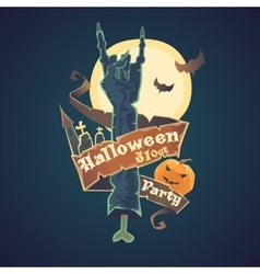 Happy halloween night party and disco vector