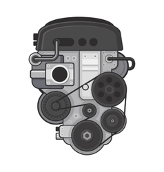 Car engine concept on white background vector
