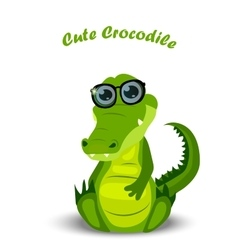 Cute crocodile or alligator vector