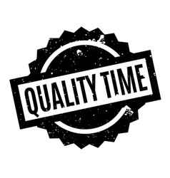 Quality time rubber stamp vector