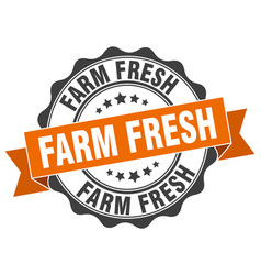 Farm fresh stamp sign seal vector