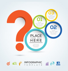 question mark infographic presentation vector image