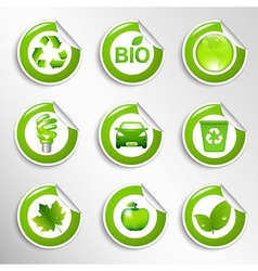 Eco Labels Set vector image