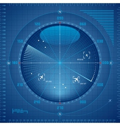 Radar screen vector
