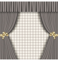Background with theatrical curtains in shades of vector