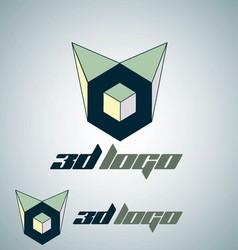 3d logo 1 vector image
