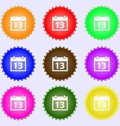 Calendar sign icon days month symbol date button a vector