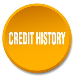 Credit history orange round flat isolated push vector